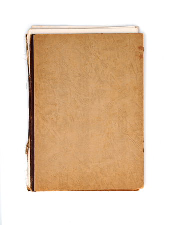 Old notebook with brown cover