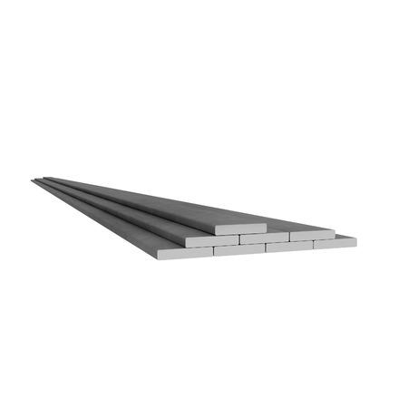 Plane metal rectangular rods at white background Stok Fotoğraf
