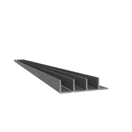 Metal corner beams at white background Standard-Bild