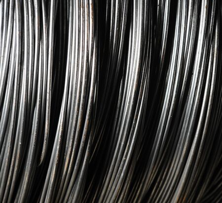 Bundle of metal wires background Standard-Bild