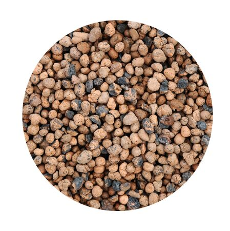 expanded: Expanded clay aggregate pattern background Stock Photo