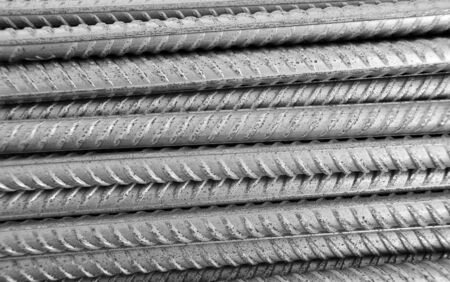Metallic armature horizontal rows background