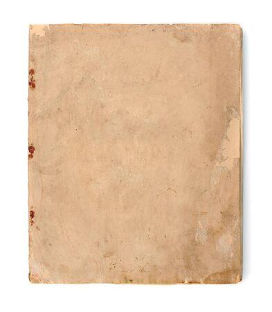 Vintage yellow obsolete paper at white background Standard-Bild