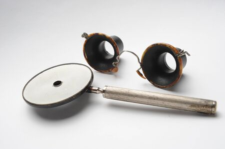 Vintage ophthalmological equipment for determining visual acuity Standard-Bild