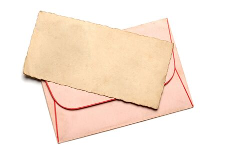 Vintage blank paper for letter with envelope Standard-Bild