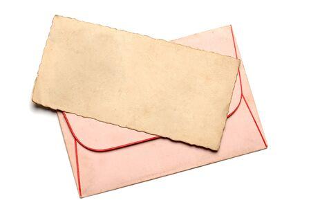 Vintage Blankopapier für Brief mit Umschlag Standard-Bild - 57956927
