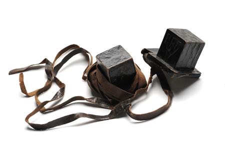 Alte Paar von jüdischen Männern Objekte zum Beten Standard-Bild - 57956934