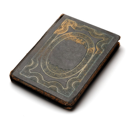Vintage grunge book with decorated cover Standard-Bild