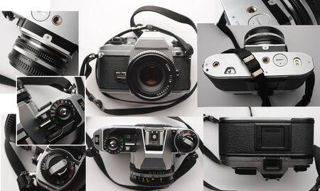Old analog 35mm film camera.