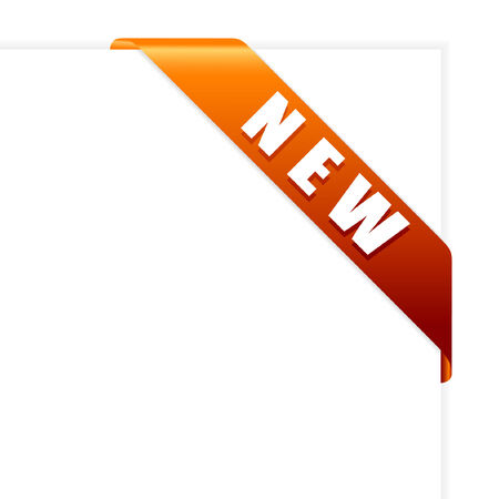 New orange corner ribbon vector