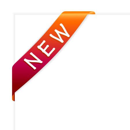 New orange corner ribbon vector Stock Vector - 4939544