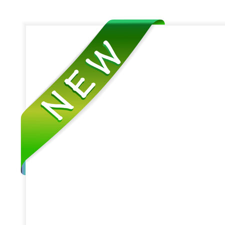 New green corner ribbon vector