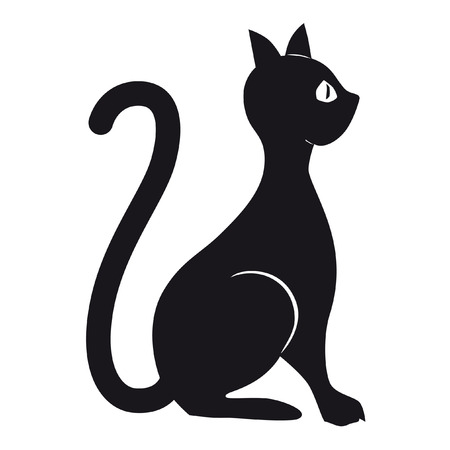 vector style image cats