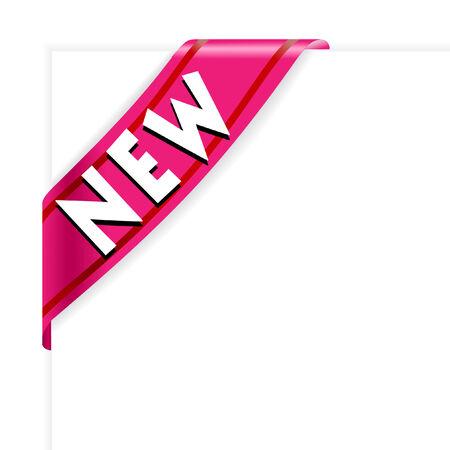 New purple corner ribbon vector Stock Vector - 5043958