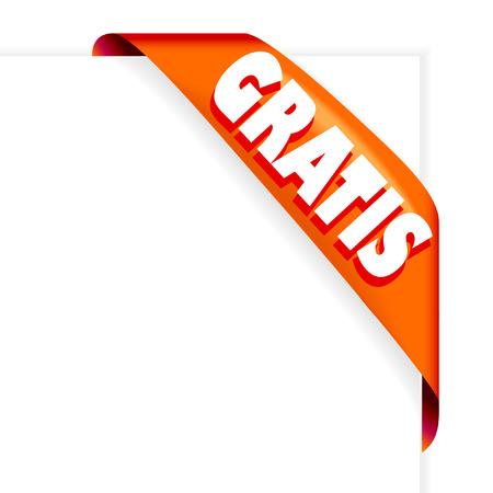 nastro angolo: Angolo rosso GRATIS nastro vettoriale  Vettoriali