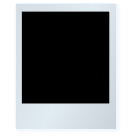 Vector image of polaroid card with shadows Vector