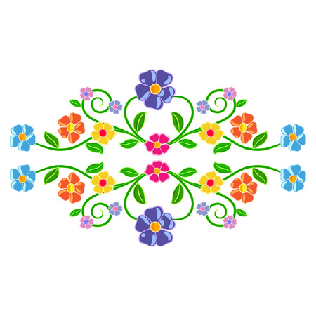 Symmetrical floral decor