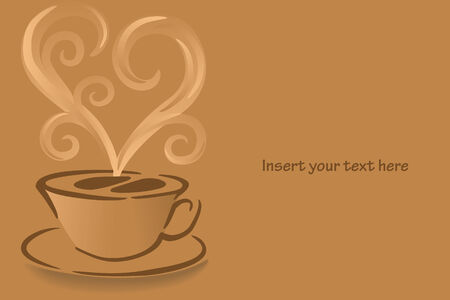 Coffee cup with steam vector graphic