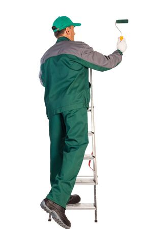Professional Decorator With Ladder And Tool Stock Photo, Picture And  Royalty Free Image. Image 10127432.