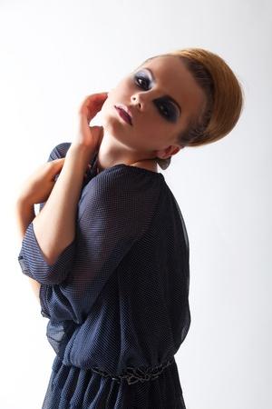 bright picture from portfolio professional model. studio shoot. photo