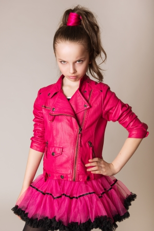 glam rock: fashion little girl in glam rock style