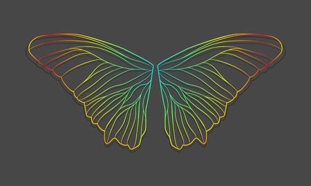 homogeneous: Vector butterfly wings on a homogeneous background