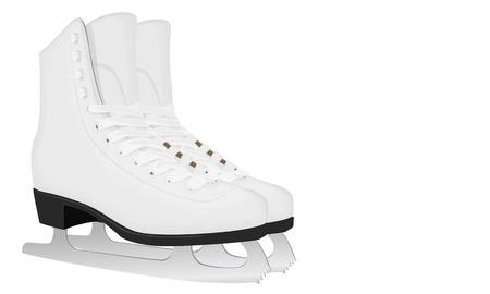 White skates voor kunstschaatsen met zwarte zolen