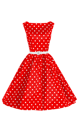 summer dress: Fashion Polka Dots Woman dress beauty summer