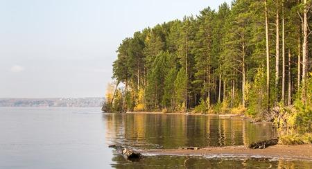 The river under the sun. Polar Ural Foto de archivo