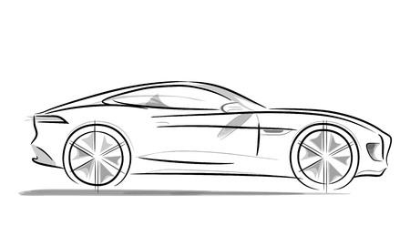 radius: Sports car with a sleek and wide radius wheels