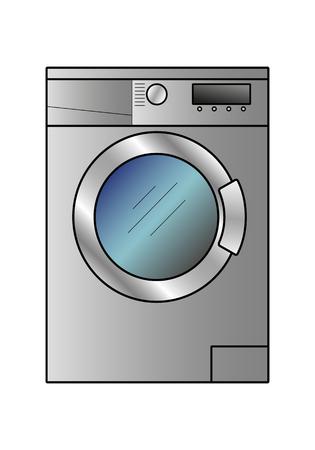 Vector washing machine on a white background Ilustracja
