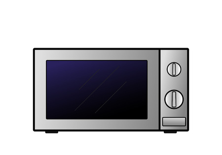 Vector microwave oven on a white background