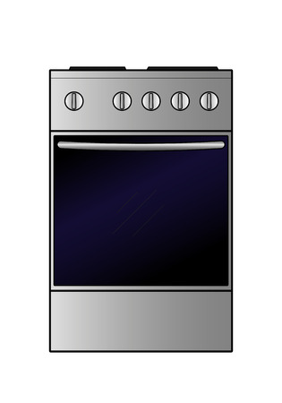 Vector electric stove on a white background Ilustração