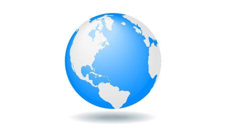 Los vectores de color planeta tierra con continentes pintadas Foto de archivo - 59715541