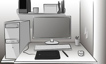 Operating a computer monitor keyboard and mouse