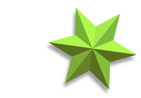 Vector paper star on a white background