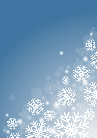 Blue background with snowflakes vector abstract Christmas