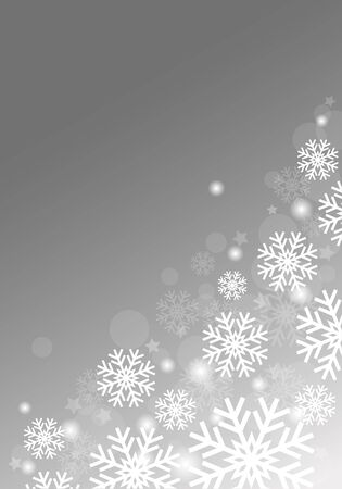 Gray background with snowflakes vector abstract Christmas Ilustração