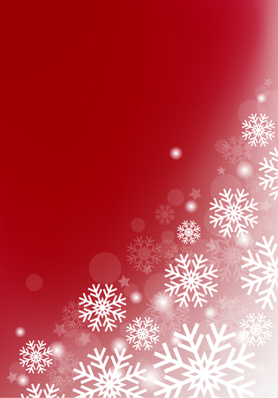 vinous background with snowflakes vector abstract Christmas Ilustração