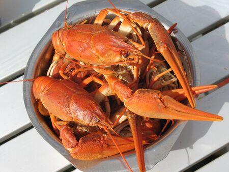 boiled crawfish photo