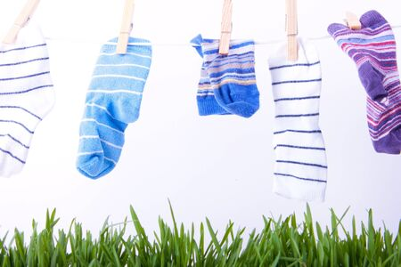 childrens socks dried photo