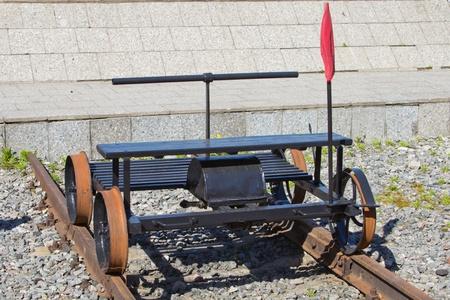 old railroad handcar Stock Photo