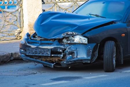 photo of the broken car Stock Photo