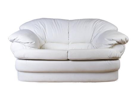 white sofa on a white background Stock Photo
