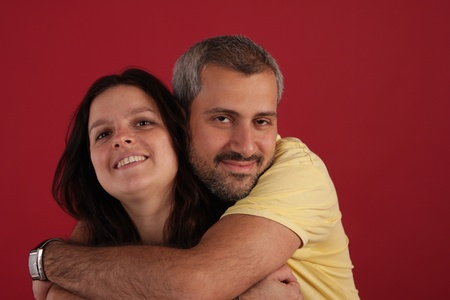 enlisting: male and female Stock Photo