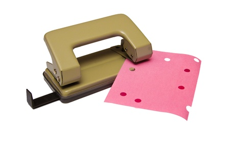 puncher: Black office hole punch on a white background