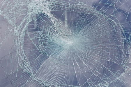 broken windshield after an accident photo
