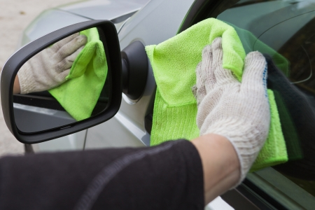 cleaning the car with a cloth Stock Photo - 22706842