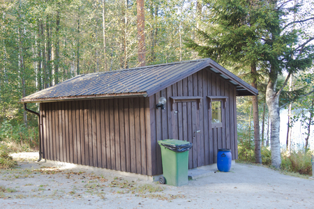 wooden shed for household needs photo