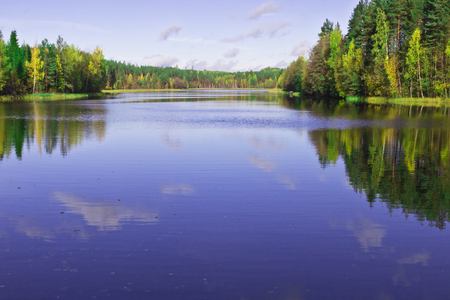 one of the many lakes in Finland